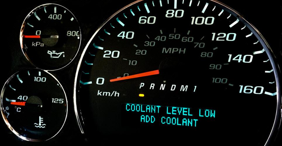 Porsche Low Coolant Warning